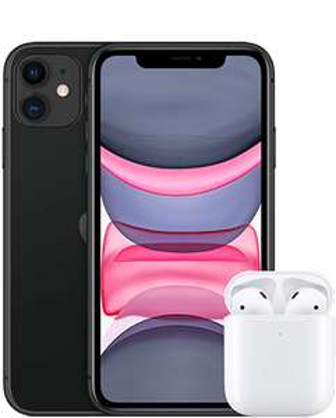 [O2 Neukunden + Shoop] Apple iPhone 11 64GB + Airpods 2. Gen + 180€ Shoop im O2 Unlimited Max (unendlich LTE 225Mbit, 5G Ready) mtl. 49,99€