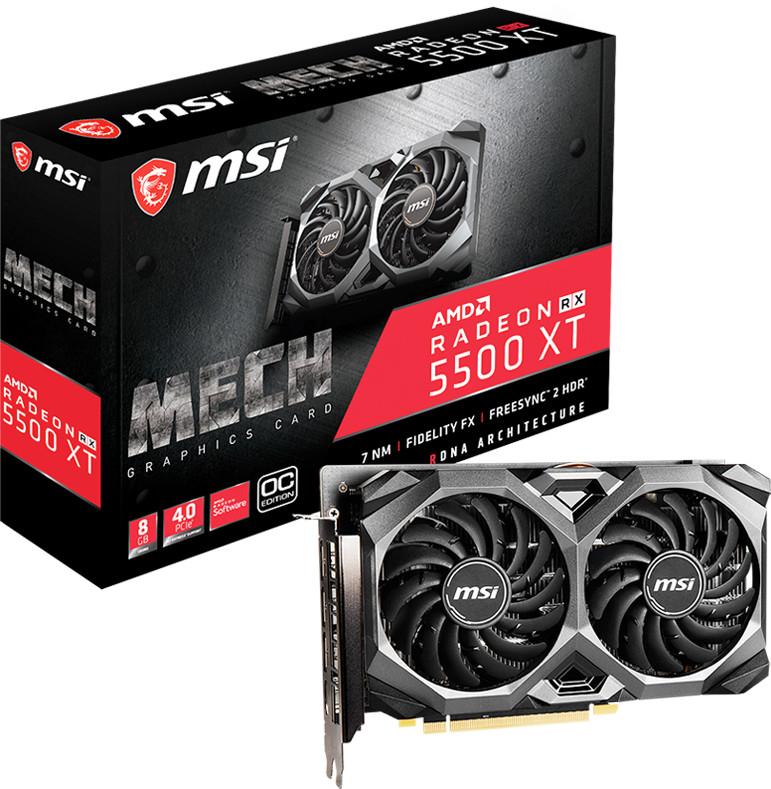 MSI Radeon RX 5500 XT Mech 8G OC Grafikkarte + Godfall für 167,70€ (eBay)