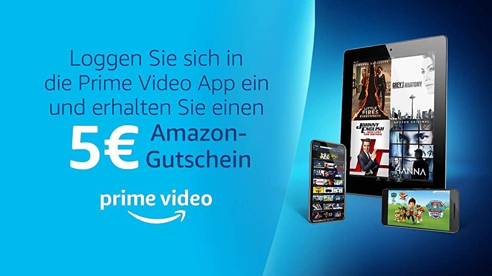 5€ Gutschein für Amazon Prime bei (fürs erstmalige Einloggen bei Prime Video)