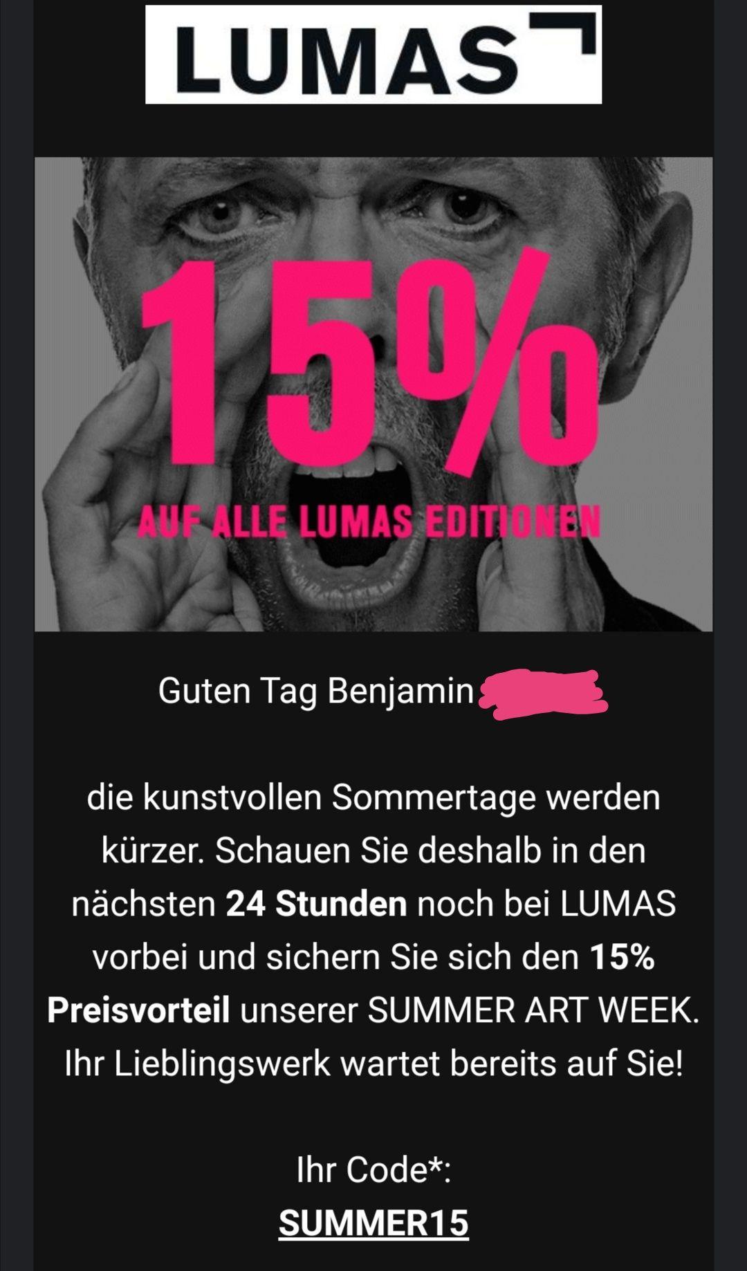 LUMAS Editionen -15% // z.B. Butterfly X