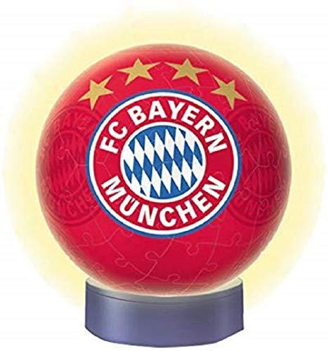Ravensburger 3D Puzzle Nachtlicht FC Bayern München - Fanartikel für Kinder ab 6 Jahren