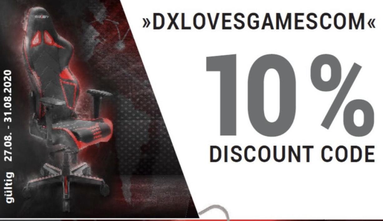 10% auf DxRacer Stühle bis zum 31.08
