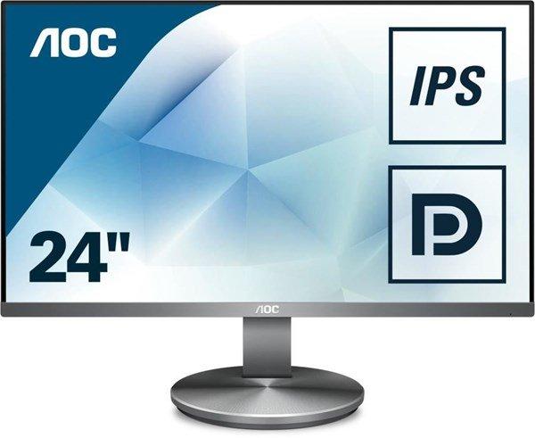 """AOC I2490VXQ/BT (23.8"""", FHD, IPS, 100% sRGB, 250cd/m², 60Hz, HDMI, DisplayPort, VGA, Lautsprecher, VESA, 3J Garantie)"""