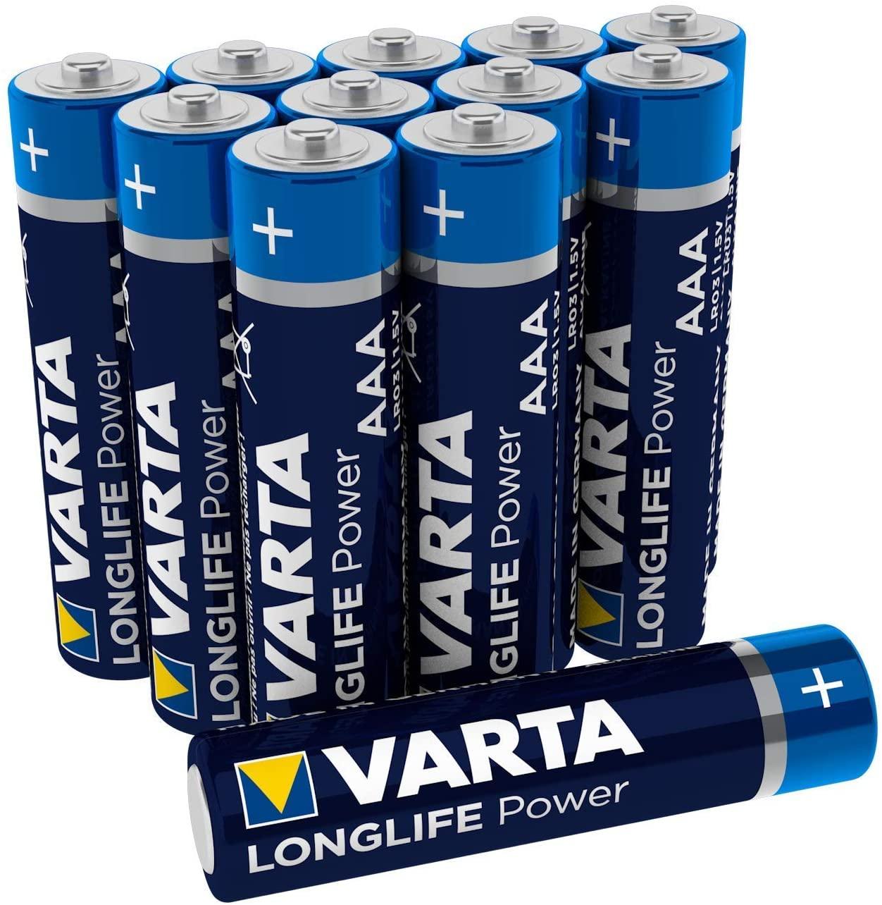 VARTA Alkaline-Batterien LONGLIFE Power | 12 Pack | AA & AAA [Kaufland]