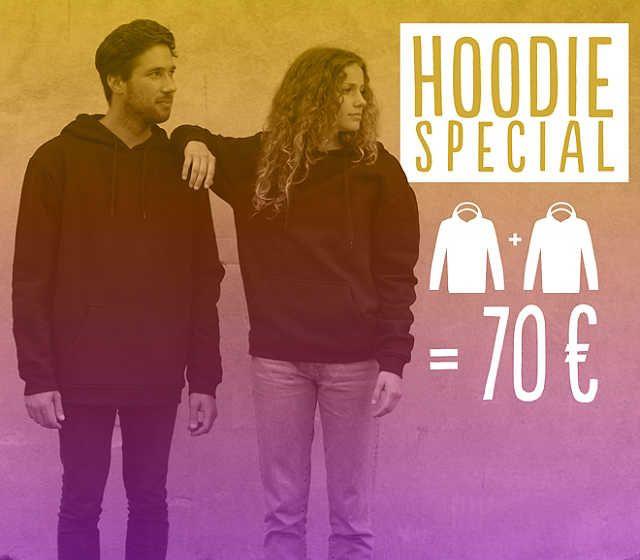 2 Hoodies für 70€ mit Newsletter Anmeldung für 60€