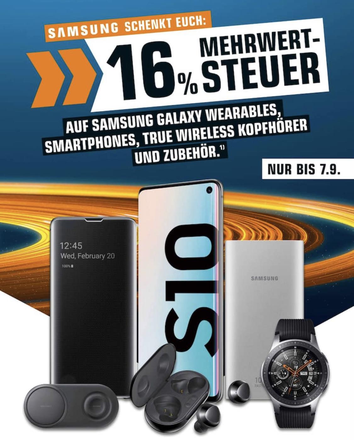 [Saturn & MM] 13,793% Rabatt auf alle sofort verfügbaren Samsung Galaxy Smartphones / Wearables & Kopfhörer: z.B. Galaxy A71 für 308,04€
