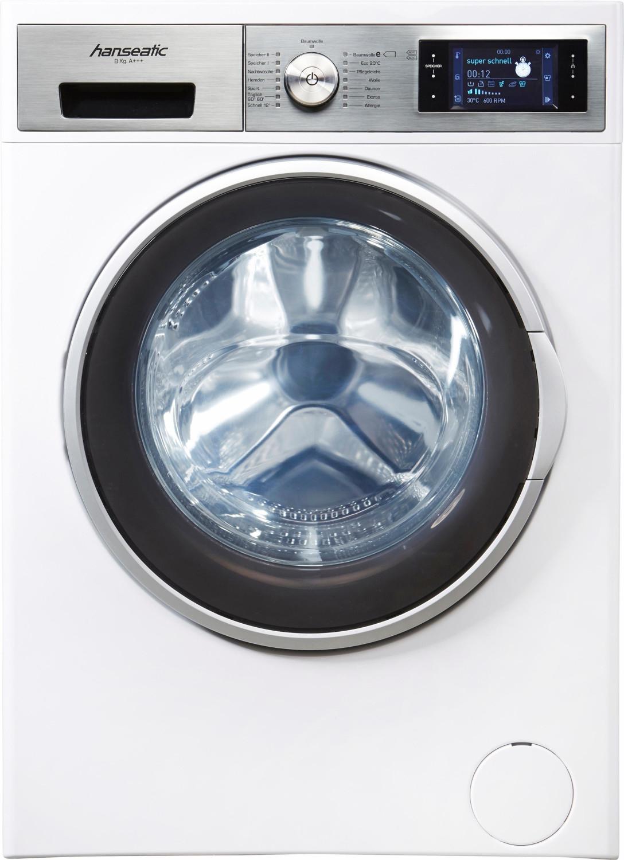 Hanseatic Waschmaschine HWM814A3DT, 8 kg, 1400 U/Min, TFT-Klartextdisplay (weiß) [quelle.de] abzgl. Newslettergutschein = 120 € Ersparnis