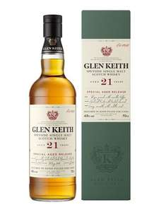 Glen Keith 21 Years Special Aged Release Single Malt Scotch Whisky