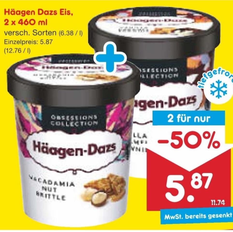 [Netto MD] 2x Stück Häagen-Dazs Eiscreme versch. Sorten 460ml für 5,87€ (je 2,94€) - nur am 04.09.