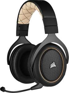 Corsair HS70 Pro Wireless Over-Ear Gaming Headset (7.1 Surround, abnehmbares Mikrofon, 12 m Reichweite, 50 mm Neodym) Crème [PC & PS4]