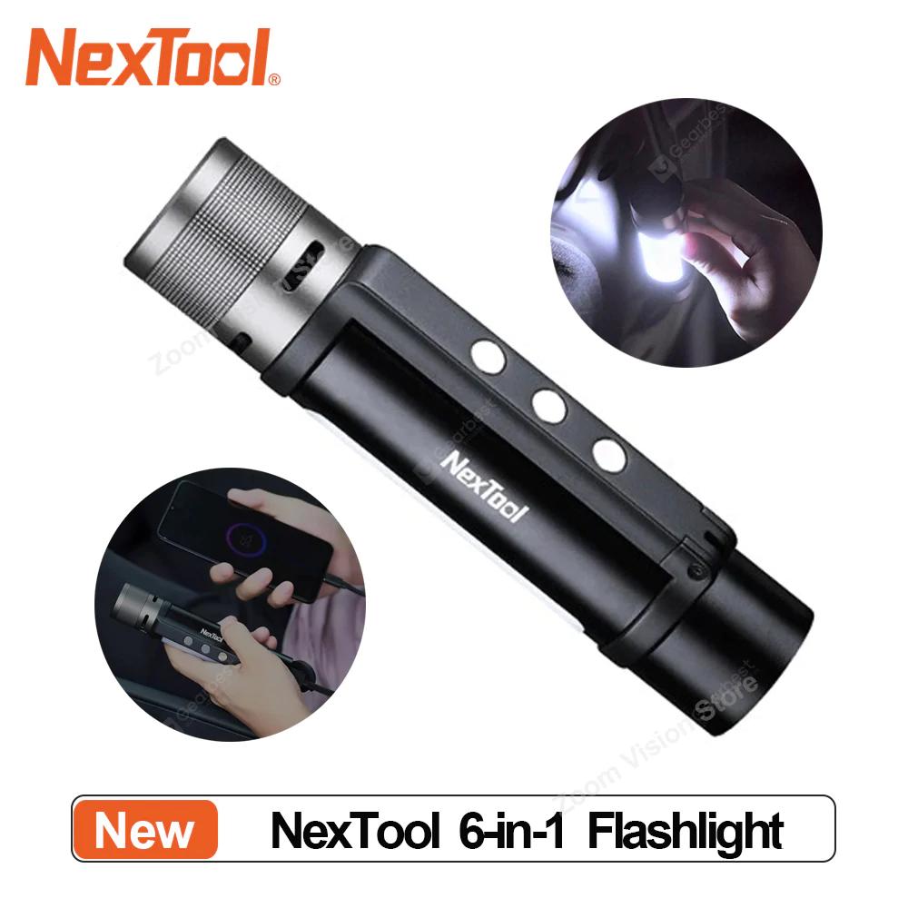 NexTool Outdoor 6-in-1 Taschenlampe (USB Type-C, 1000 Lumen) für 19,43€