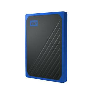 WD My Passport™ Go 500 GB , 500 GB SSD, 2,5 Zoll, extern, Schwarz/Blau
