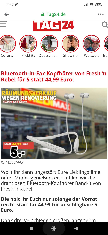 Lokal Medimax Jena In-Ears Fresh 'n Rebel Band-It