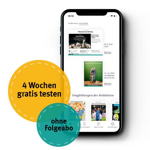 Süddeutsche Digital (SZPlus Komplett) 4 Wochen gratis testen (endet automatisch)