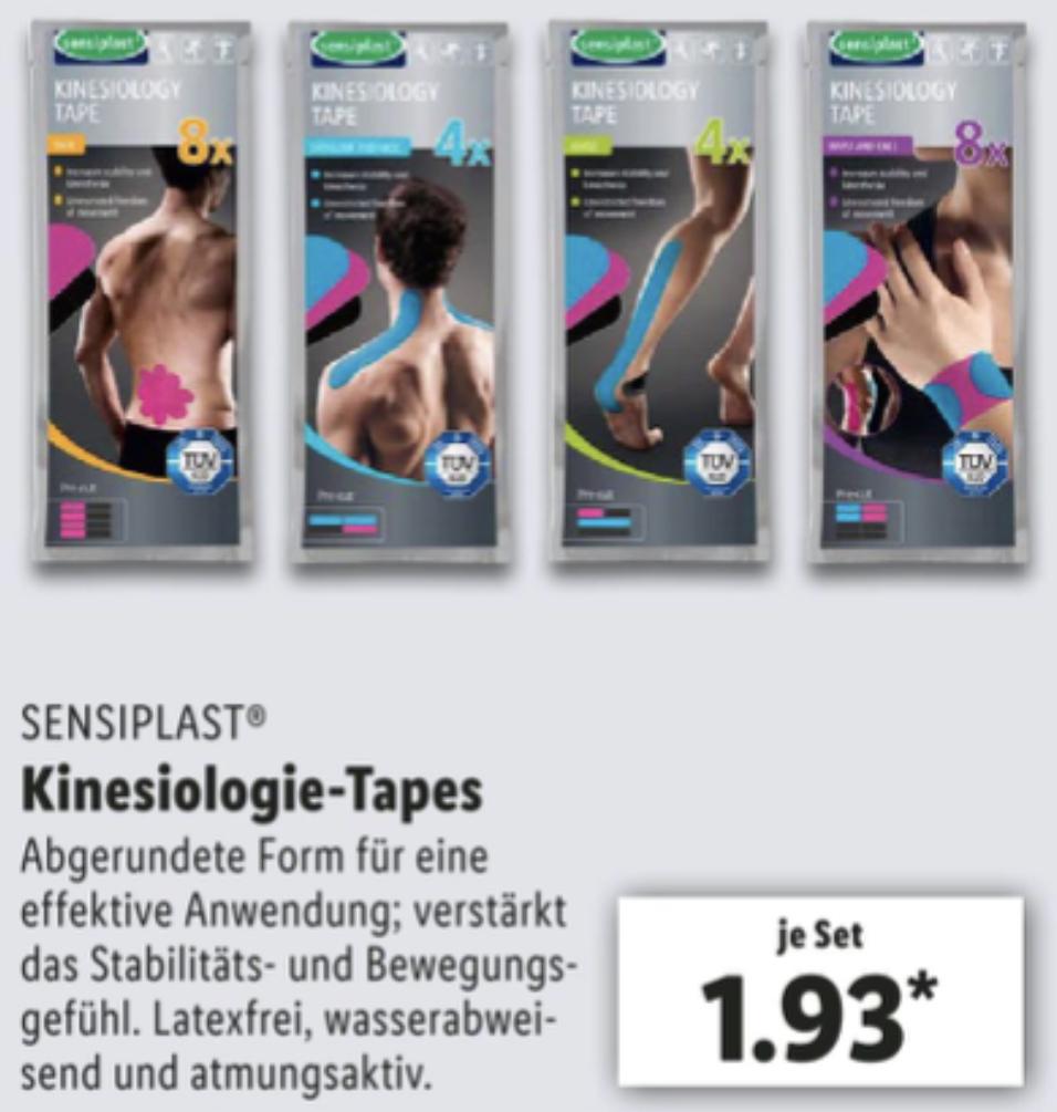 SENSIPLAST Kinesiologie-Tapes vorgeschnitten in verschiedenen Ausführungen für Rücken, Schulter, Knie usw. je 1,93€