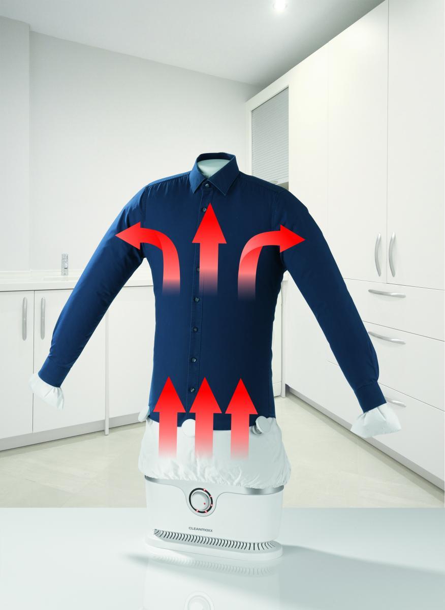 CLEANmaxx Hemden- und Blusenbügler 2in1 1800W