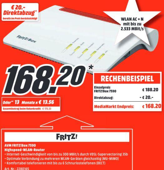 AVM Fritzbox 7590 ab 03.09. (Mediamarkt - Lokal&Online)