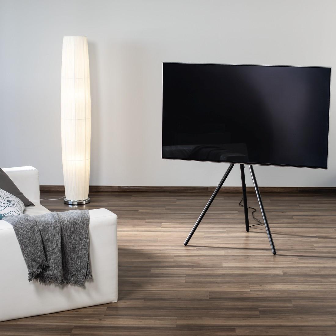 """Hama TV-Stand """"Staffelei-Design"""" bis 191 cm (75""""), Schwarz"""