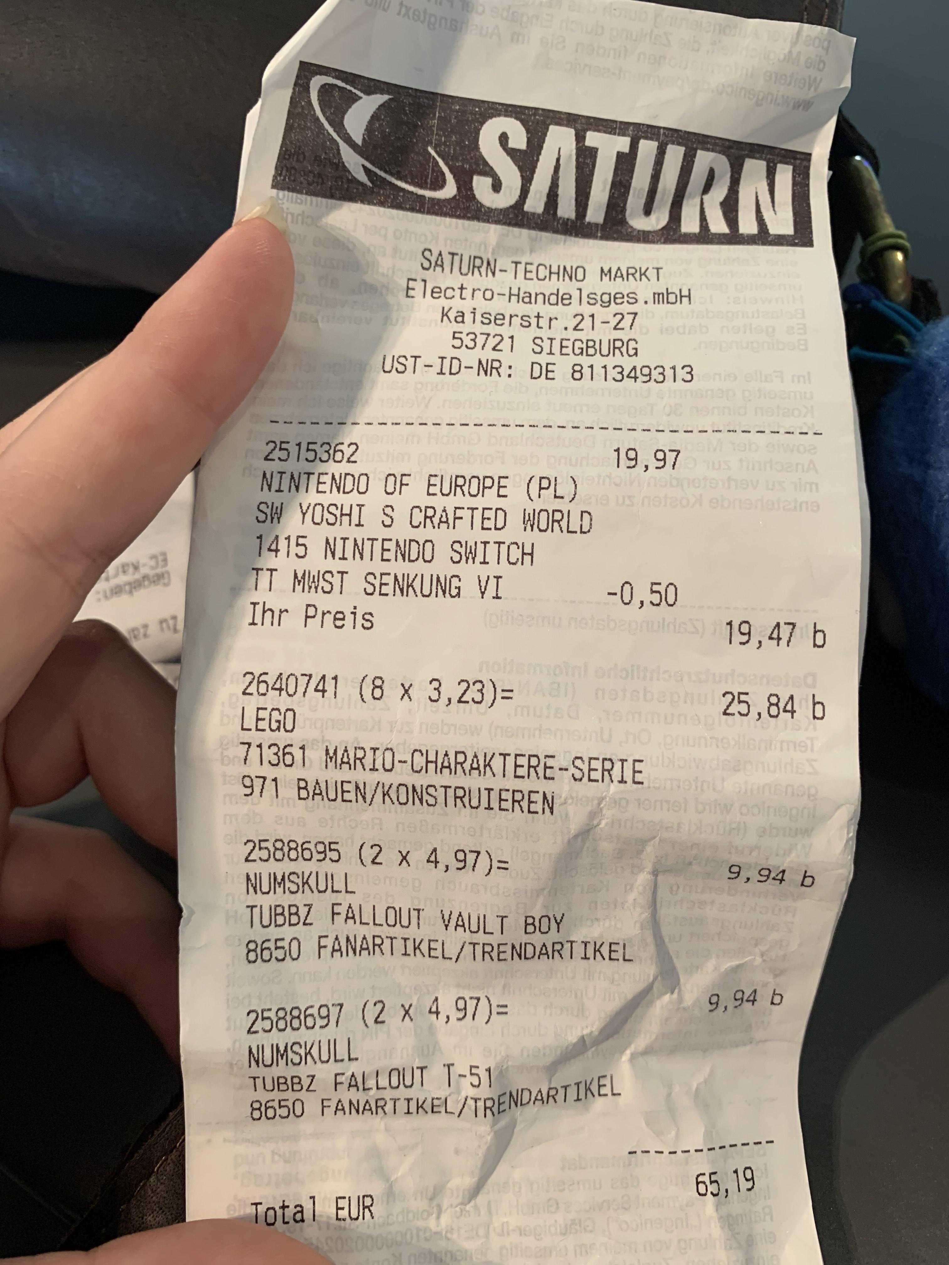 [Lokal Saturn Siegburg] Yoshi's Crafted World für 19,47€, Borderlands 3 für 10€