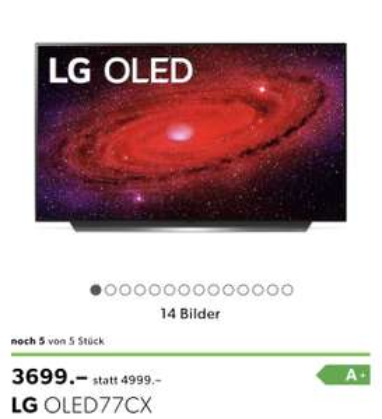 [Schweiz] LG OLED CX77