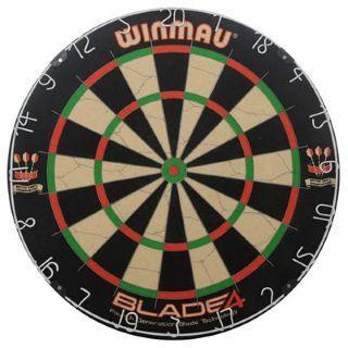 Winmau Blade 4 Dartboard und Winmau Foxfire Tungsten Darts 24g