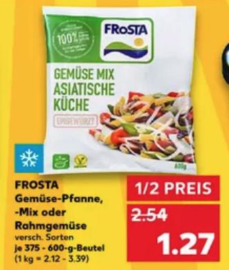 Frosta Gemüse Pfanne Mix oder Rahmgemüse für je 1,27€ [Kaufland Regional]