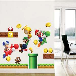 30 x 60cm Super Mario Wandsticker-Set