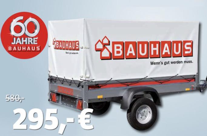 (Lokal Bauhaus Dresden / Mannheim) Stema PKW-Anhänger '7.5-20-12 R10' mit Hochplane und Spriegel