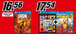 [Media Markt Abholung] Borderlands 3 + Grand Theft Auto V Premium Edition PS4 - 17,54€ | Doom Eternal PS4 Xbox One PC - 16,56€
