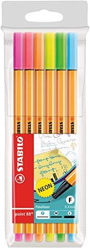 Fineliner - STABILO point 88 - 6er Pack - Neonfarben ( Amazon Prime & Thalia Classic )