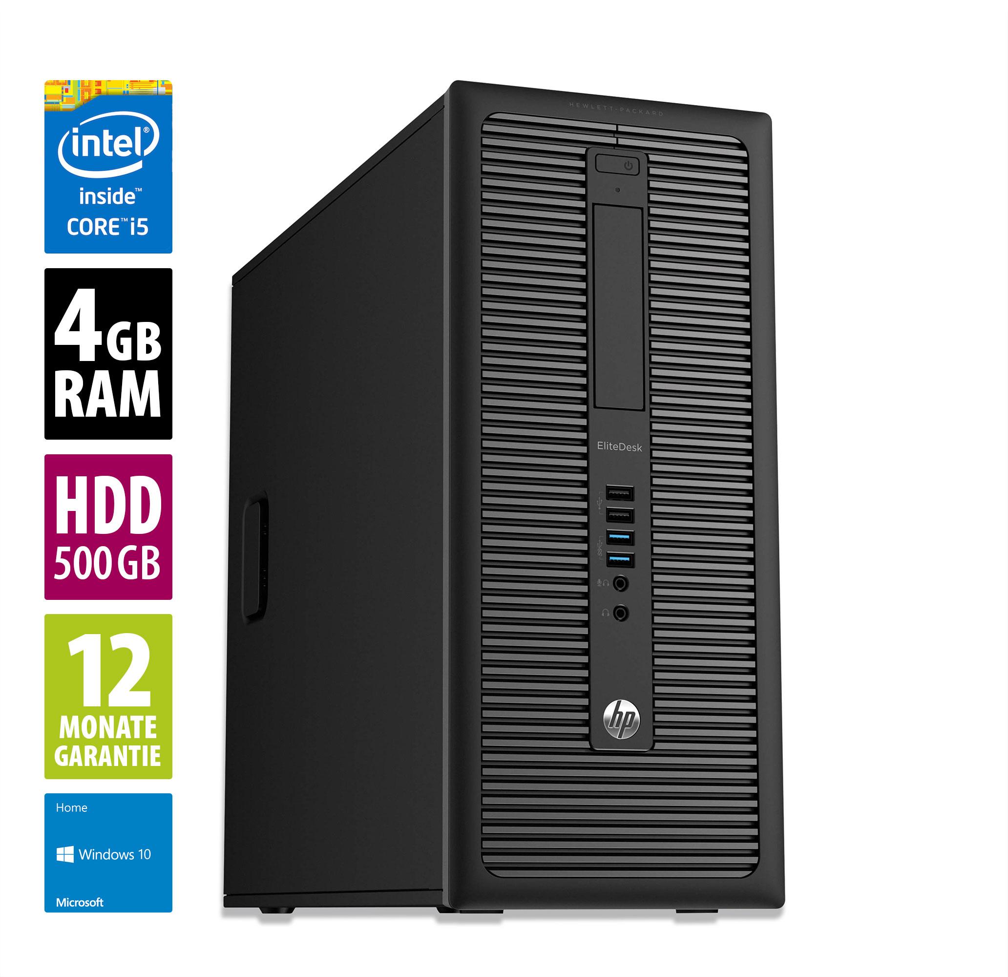 HP EliteDesk 800 G1 i5 4570 - 4GB DDR3 - 500GB HDD - Windows 10 Home [AfB-Shop]