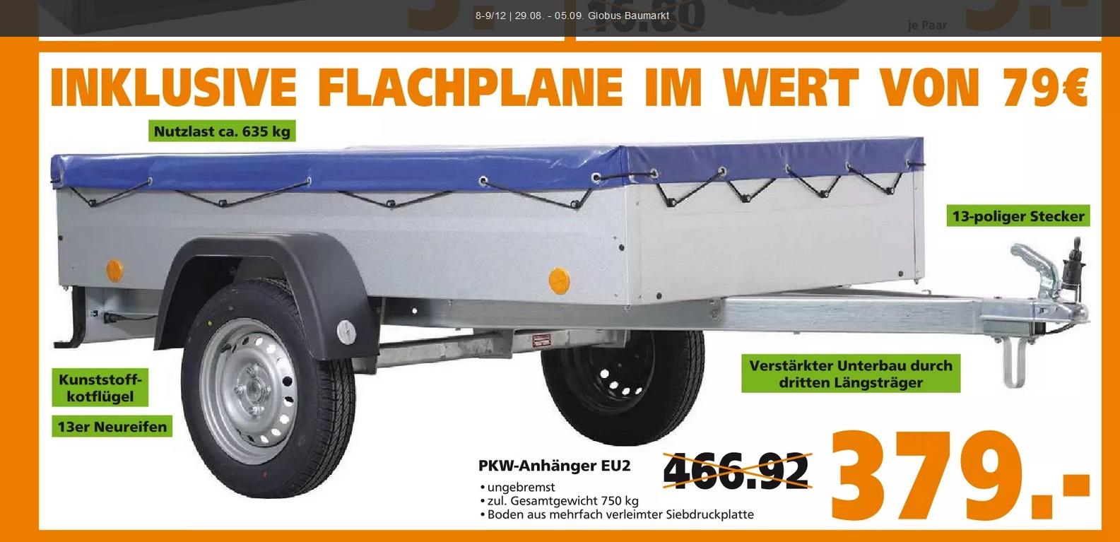 [Globus Baumarkt Gensingen Bad Kreuznach] 750kg Anhänger - Schwerlastregal 15€