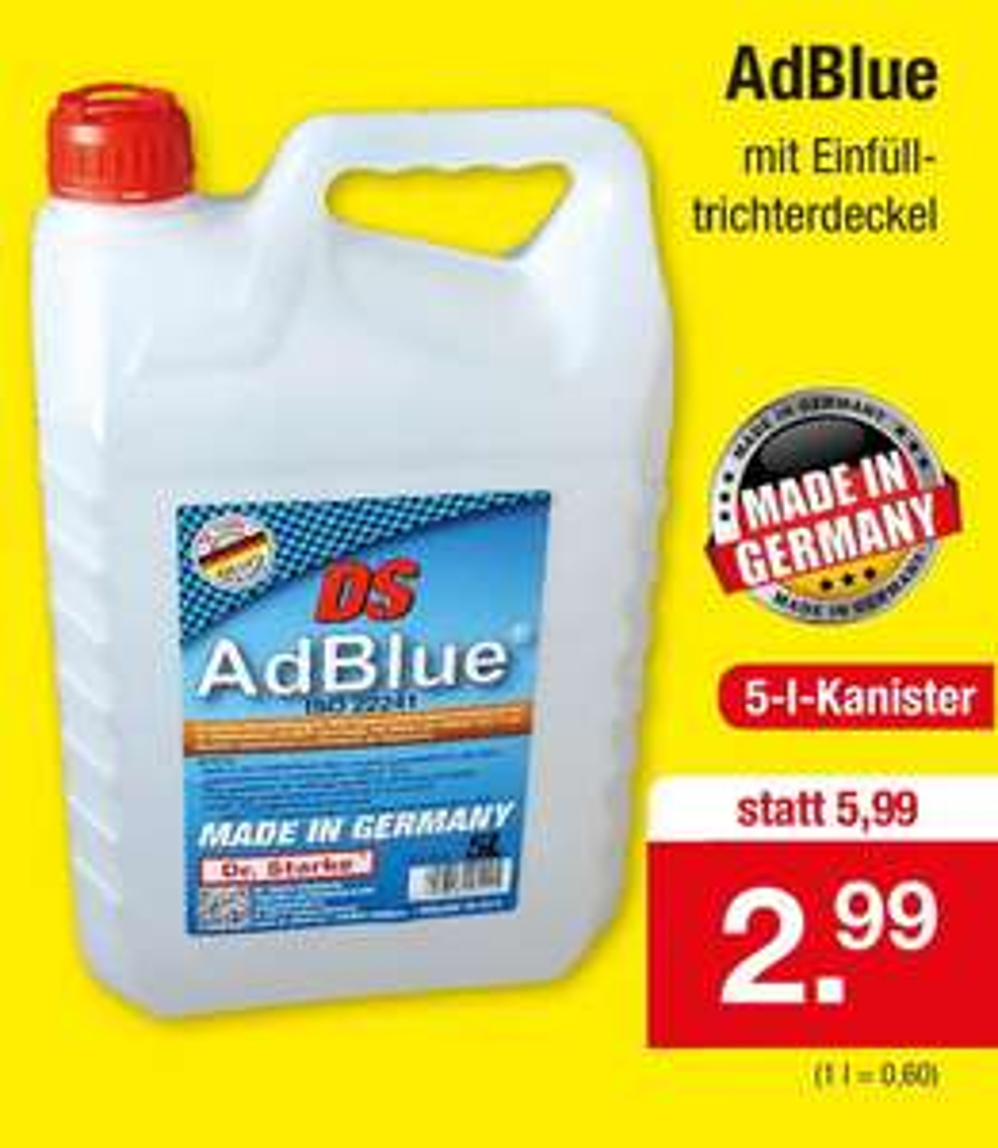 Hoyer AdBlue 5 Liter Kanister für 2,99 Euro [Zimmermann]