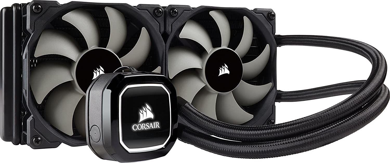 Corsair Hydro H100x Wasserkühlung (2 x 120mm Lüfter, LED, All-In-One High Performance CPU-Kühlung) schwarz