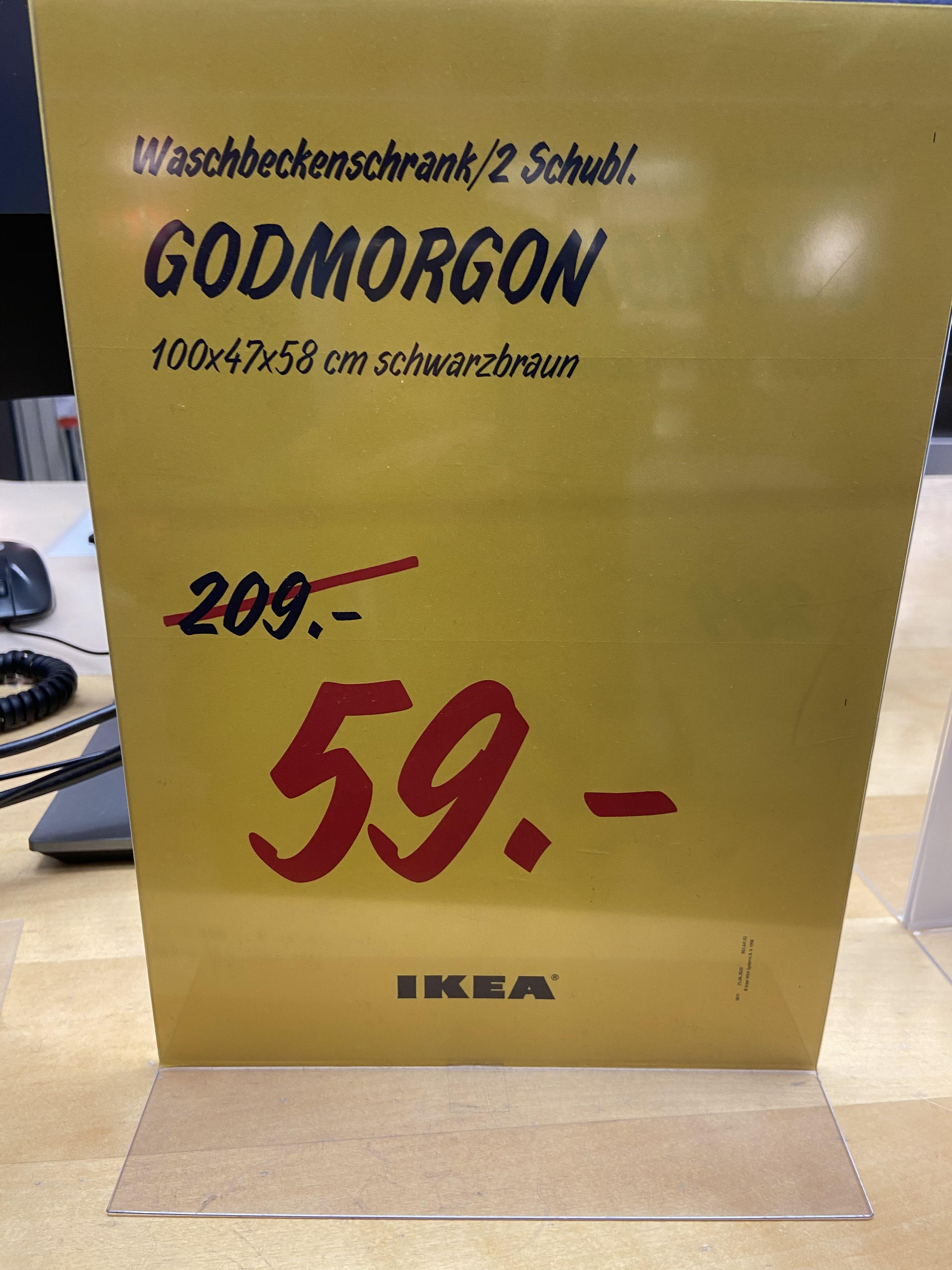 Ikea Lokal Dortmund Godmorgon Waschbeckenschrank schwarz braun