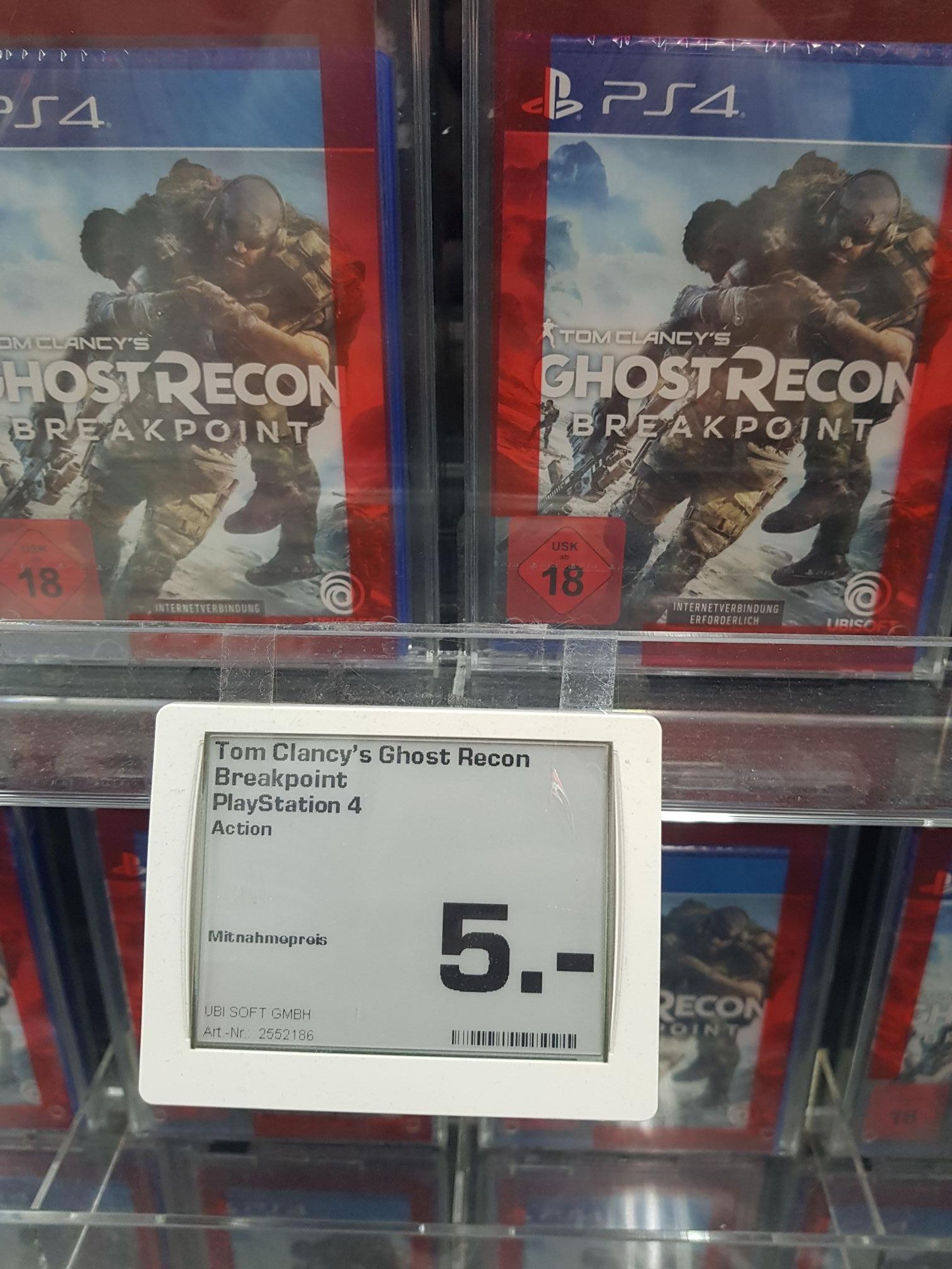 [Lokal Saturn Saarbrücken] Ghost Recon Breakpoint (PS4) für 5 Euro