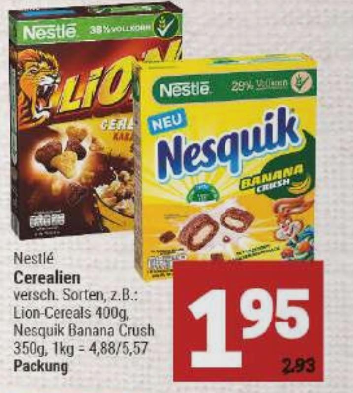 [Marktkauf Minden-Hannover] Nestlé Ceralien für 0,95€ mit Coupon (Nur noch heute)
