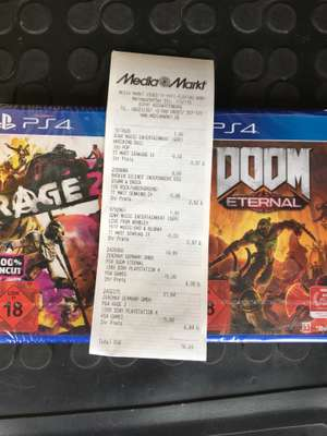 Media Markt Aschaffenburg- Doom Eternal PS4 4,99 / Rage 2 für 6,84
