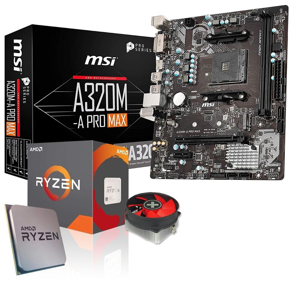 Aufrüst-Kit AMD Ryzen 5 3400G [4C/8T, integrierte Grafik] + MSI A320M-A Pro Max Mainboard (3% Cashback & 7,45€ in Rakuten-Punkten möglich)
