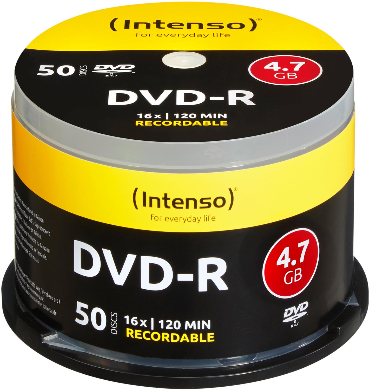 Intenso DVD-R Rohlinge 4,7GB 120min 16x 50er Spindel für 6,82€ inkl. Versandkosten
