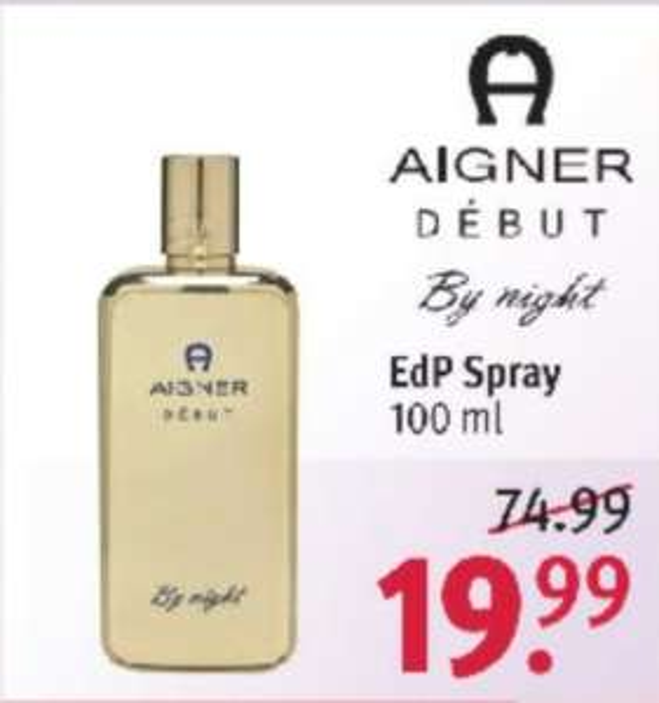 Parfüm: Aigner Debut By Night 100ml (Rossmann offline)