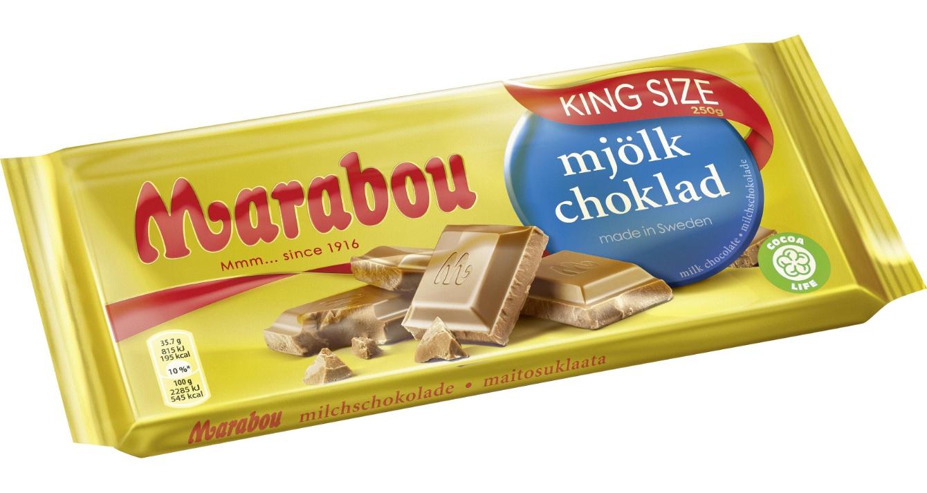 Marabou schwedische Schokolade Kingsize-Tafel verschiedene Sorten (220/250g) oder Doppelrolle (134/148g) für nur 1,93€ [ALDI-Nord]