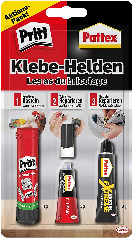 Pritt & Pattex Klebehelden Alleskleber 11 g, 3 g und 8 g für 3,89 Euro [Kaufland]