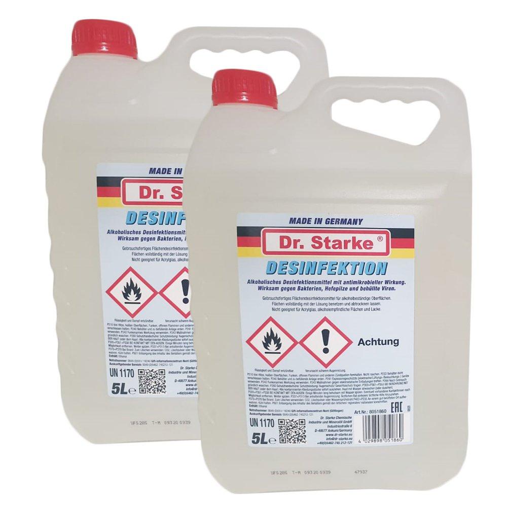 2 Kanister (10 Liter) Dr. Starke Desinfektionsmittel für 15 Euro [Jawoll]