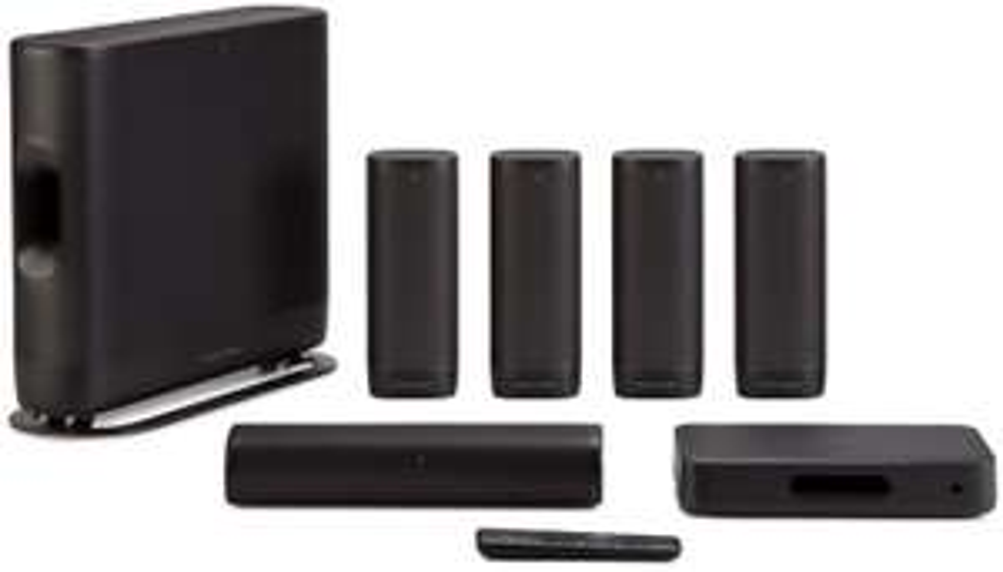 Harman Kardon Surround kabelloses Heimkinosystem (5x 50W + 120W Subwoofer, 5GHz WiSA, 4x HDMI 2.0-In & 1x -Out, WLAN, LAN, BT, Chromecast)