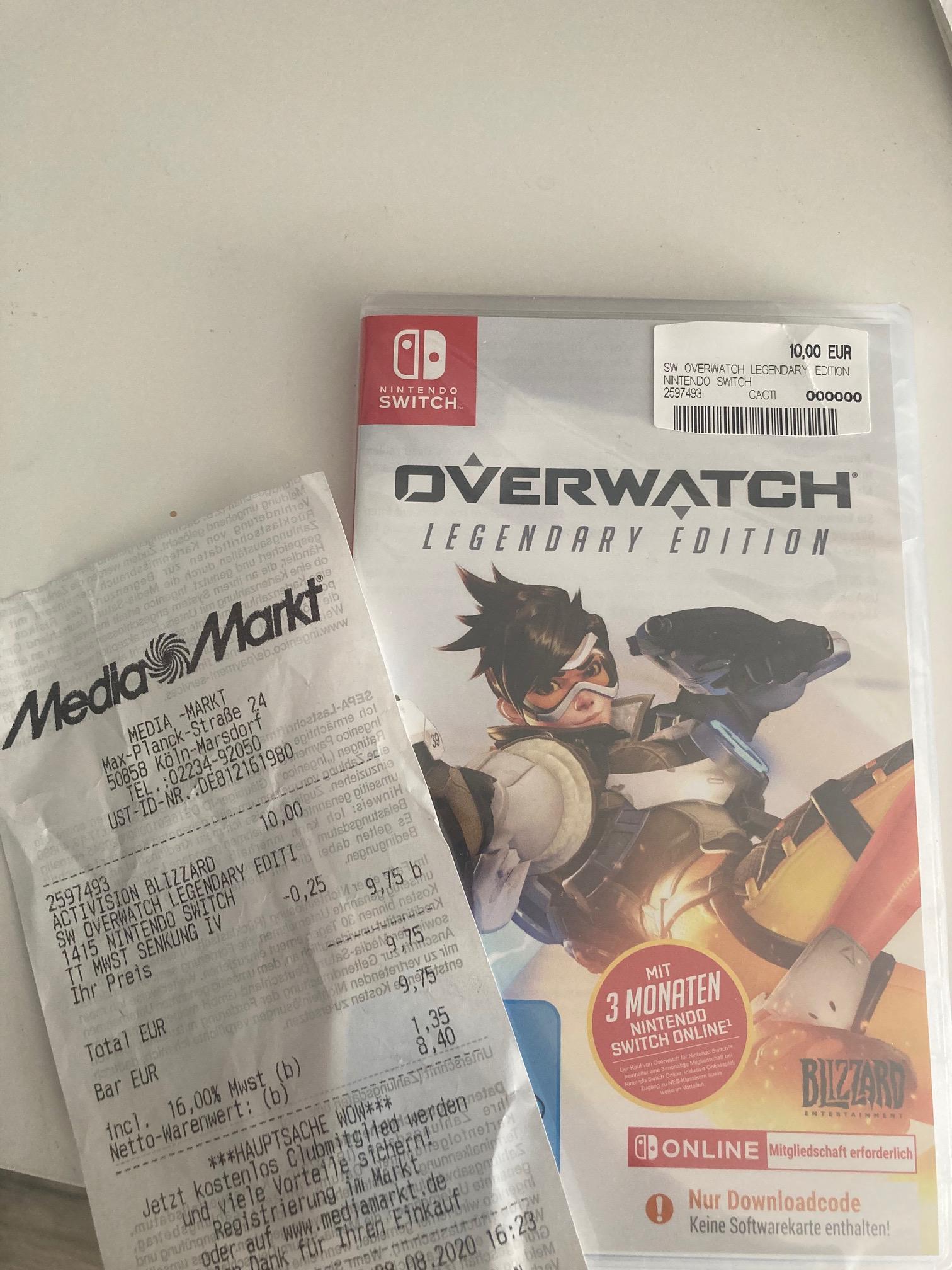 [Lokal Mediamarkt Köln-Marsdorf] Overwatch Legendary Edition + 3 Monate Online Zugang für die Nintendo Switch