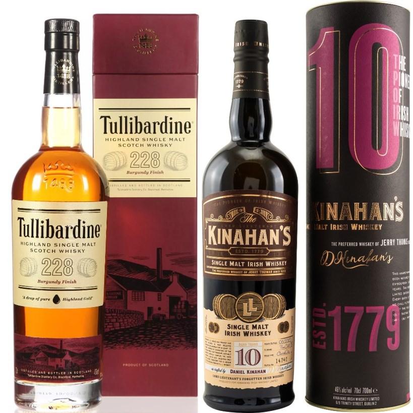 Whisky-Übersicht #45: z.B. Tullibardine 228 Burgundy Finish für 27,90€, Kinahan's 10 Jahre Single Malt für 48,45€ inkl. Versand
