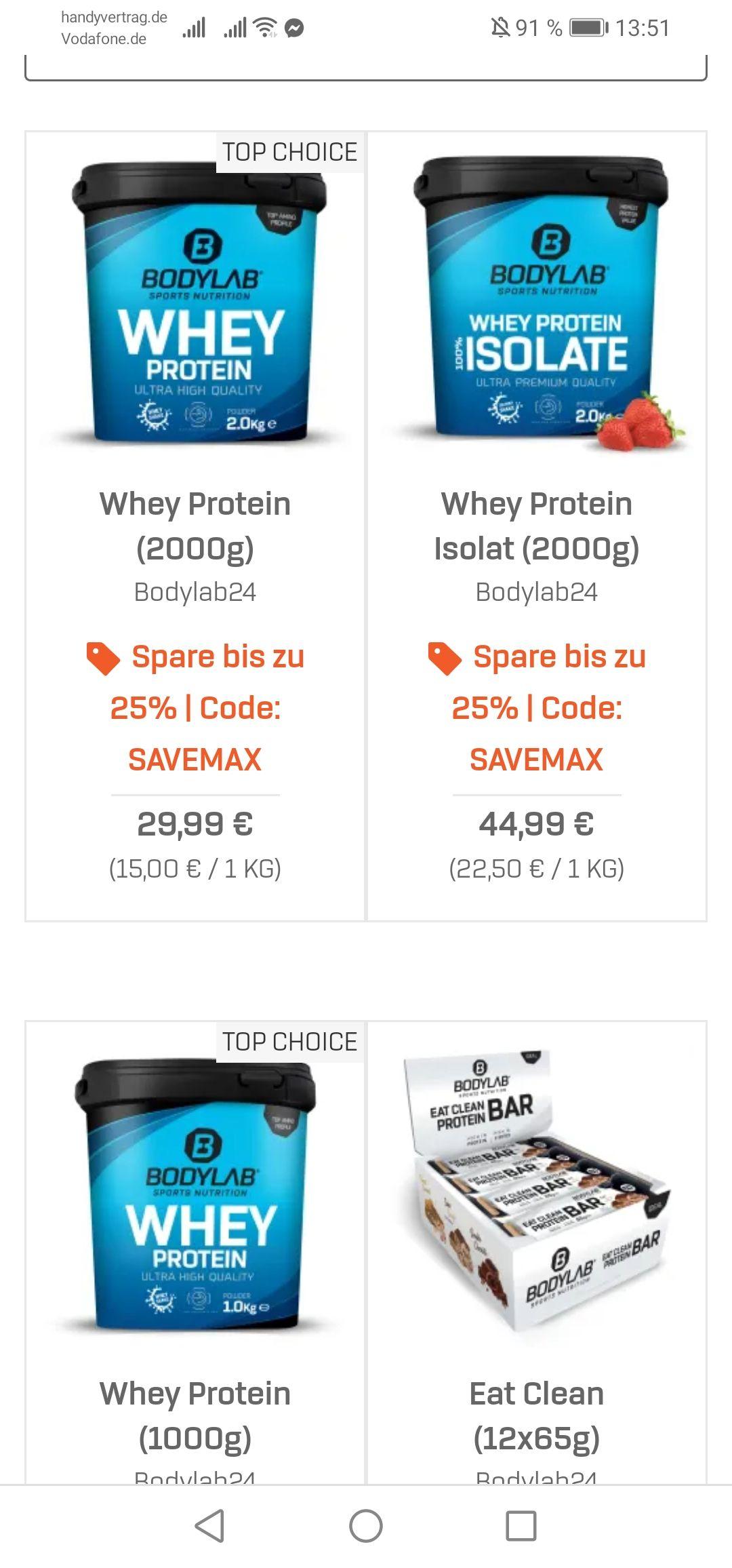 25% Summer Sale bei Bodylab24