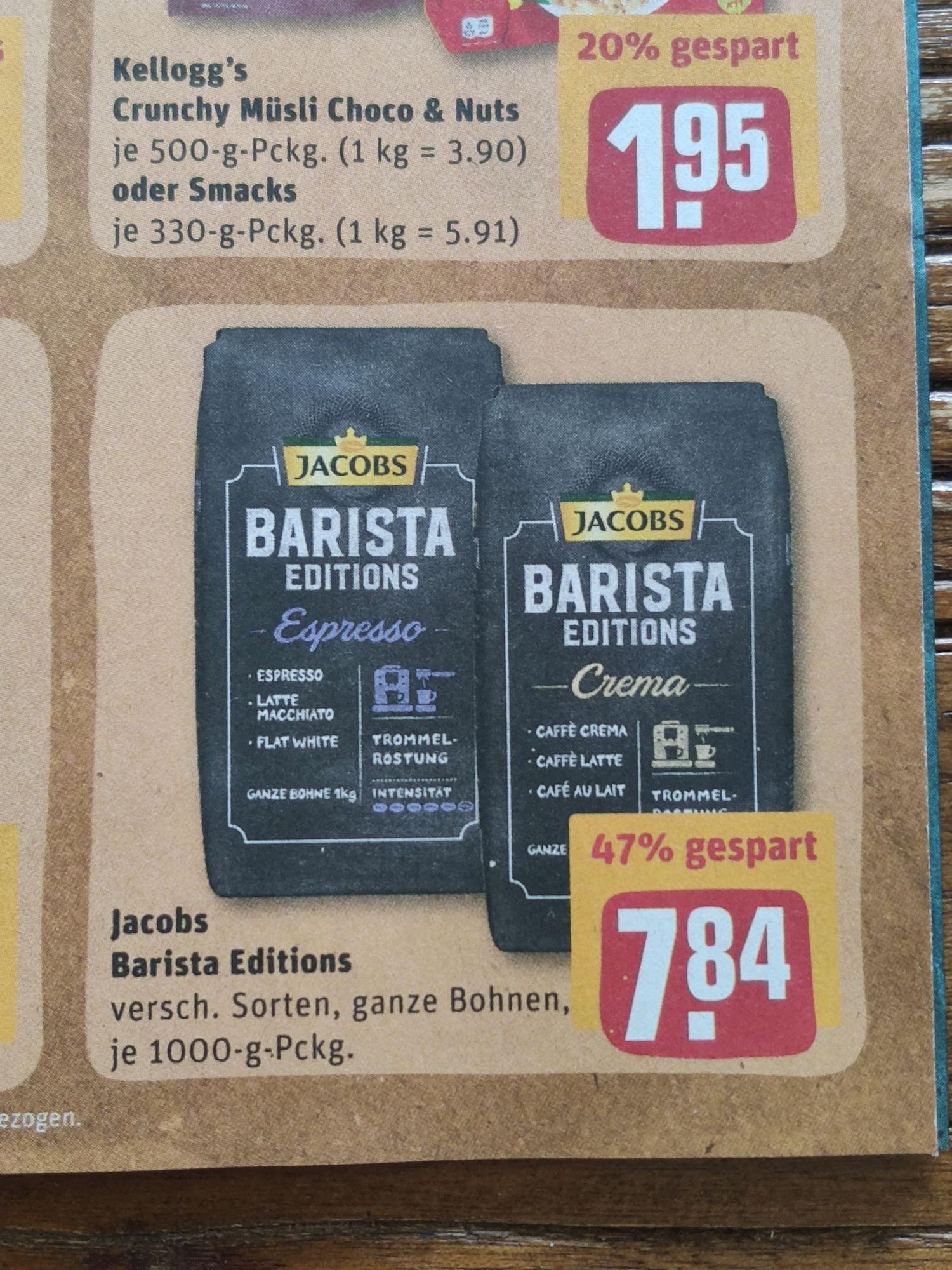 Jacobs Barista Editions ganze Bohnen [REWE]