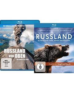 Russland von oben Die komplette Serie + Russland Im Reich der Tiger, Bären und Vulkane (Double Feature Blu-ray) für 6,80€ (Müller Abholung)